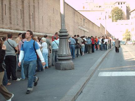 Vatican museum line